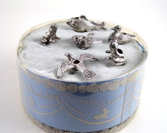 Vintage Reed And Barton Silver Birthday Candle Holders
