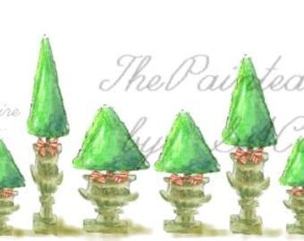 Christmas clip art, christmas border, christmas graphics,digital Christmas Trees, clip art trees