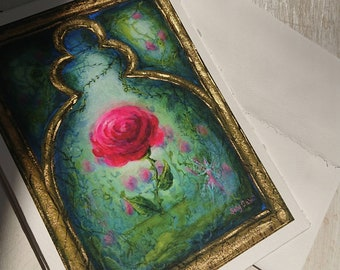 Greeting Card, Rose Art Print Card, Frameable Greeting Card, Quality Art Print Card