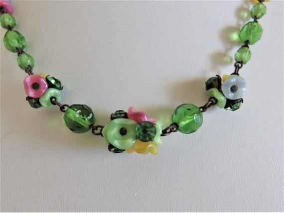 Vintage 1930's Art Deco Art Glass Necklace