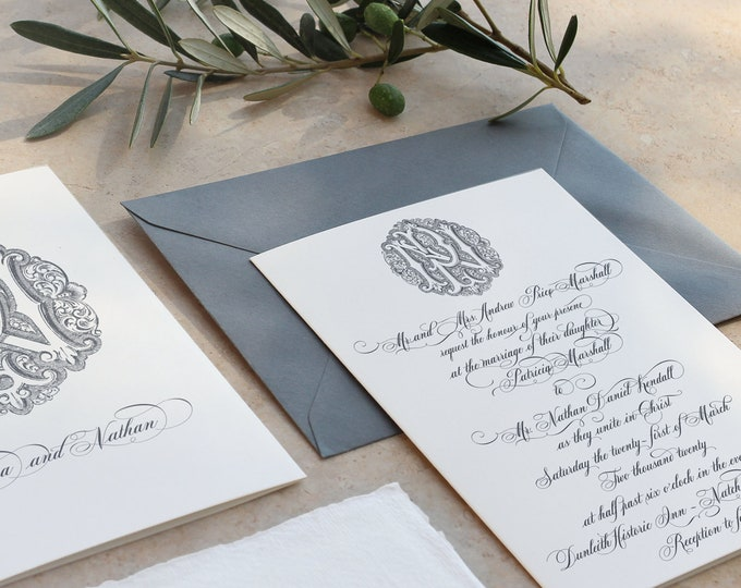 Add Wedding Invitation or Suite Design to your Monogram Order