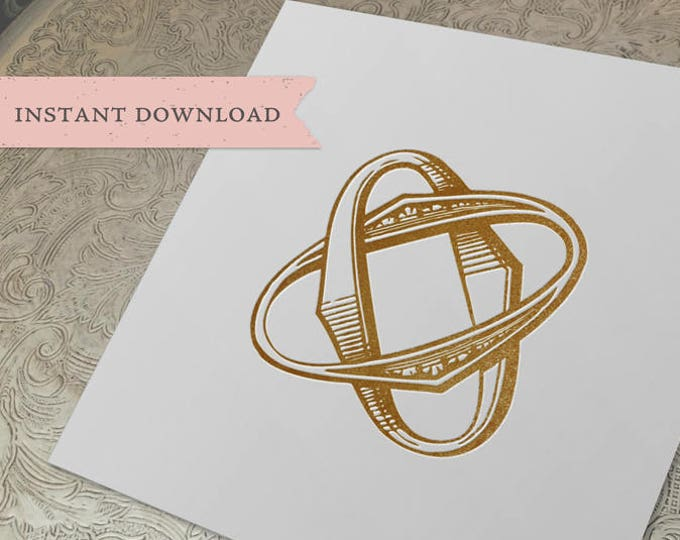 Vintage Wedding Monogram OO Digital Download double O