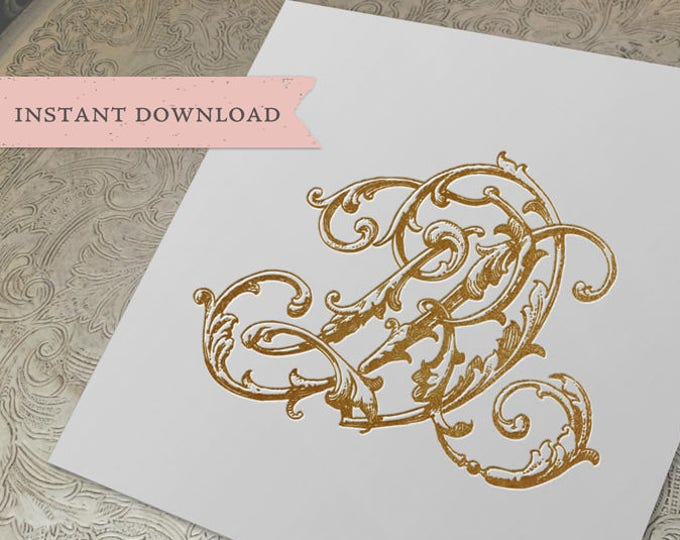 Vintage Wedding Monogram DR RD Digital Download D R
