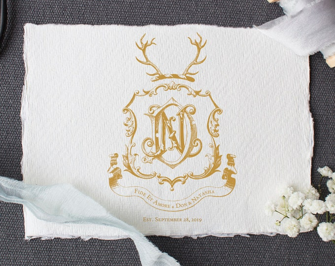 Custom Wedding Crest Design Family Crest Design
