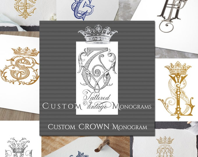 CUSTOM Vintage CROWN MONOGRAM