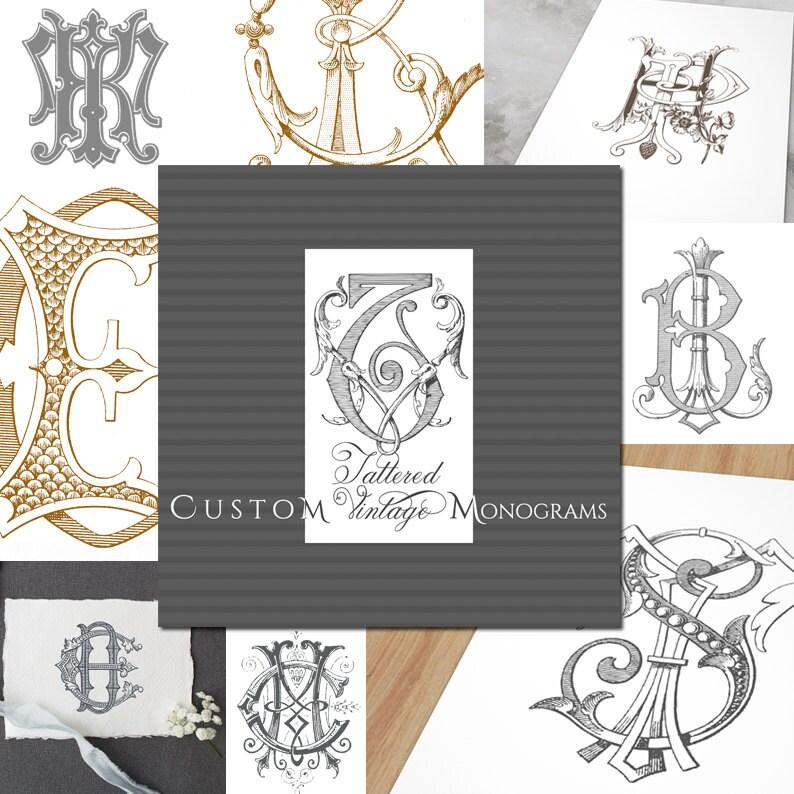 CUSTOM Vintage MONOGRAM image 0