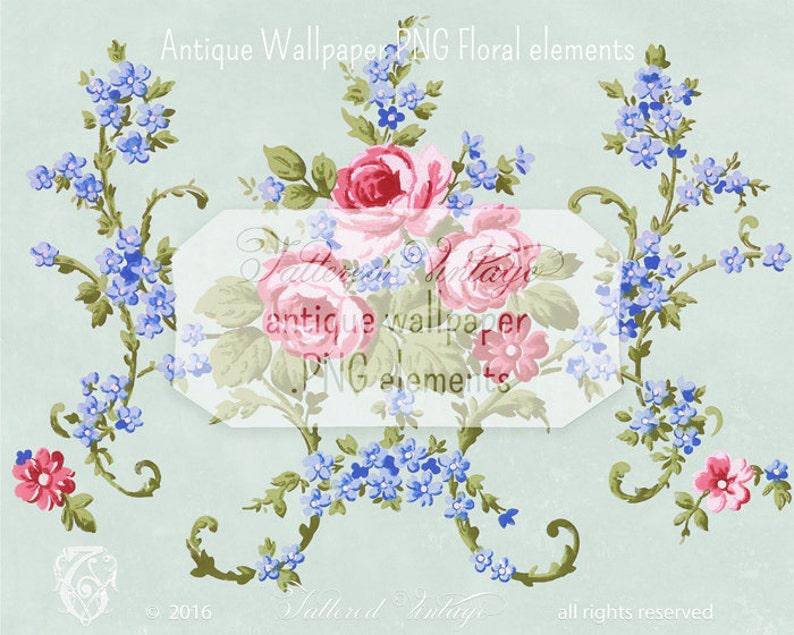 Vintage Pink Roses Transparent Background Png Antique Etsy