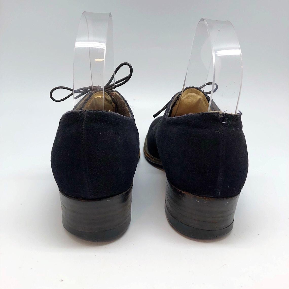 Pizzo in suede nero degli anni '30:5.5 fino alla toe tallone basso - Scarpe alla moda 1MmcDbiZ Fqn9Qq 9eoAGy