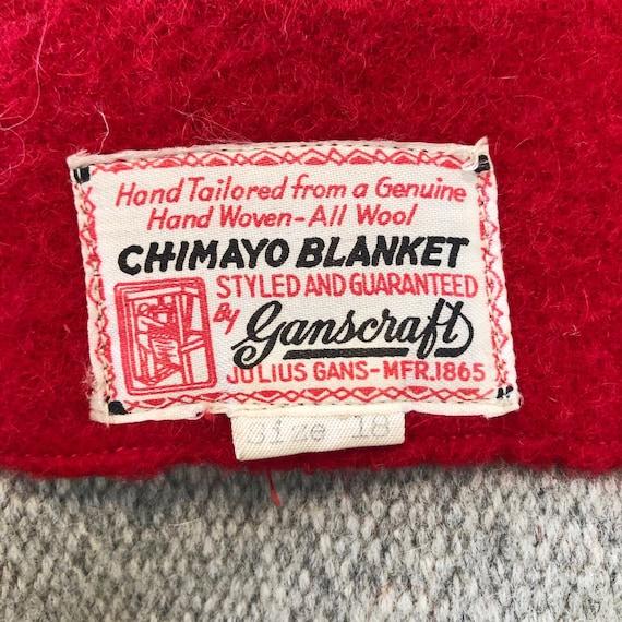 1940s SZ:M red gray blue black wool chimayo 49er … - image 5