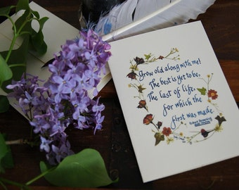 Victorian, anniversary, love, Valentine, wedding card, wife to husband, husband to wife, poetry,  Robert Browning, q608