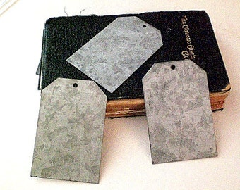 Zinc Metal Gift Tags Set of 3 chalkboard Garden Wedding Gift Wrap Name Party Supplies