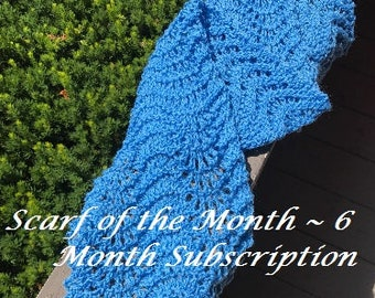 Scarf of the Month ~ 6 Month Subscription