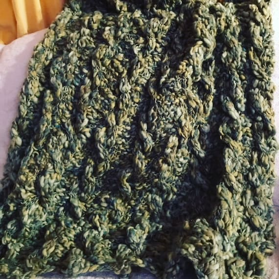 The Chunky Cable Throw: PATTERN, knitting, afghan, cable, chunky, throw, blanket, texture