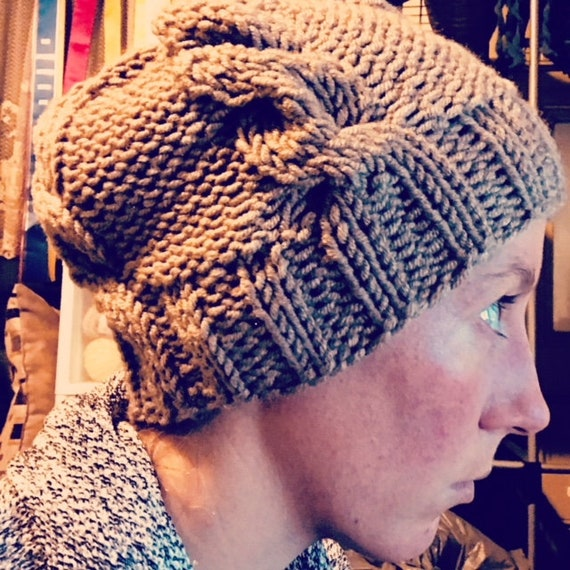 The Hunter Hat: PATTERN, knitting, cables, beanie, intermediate