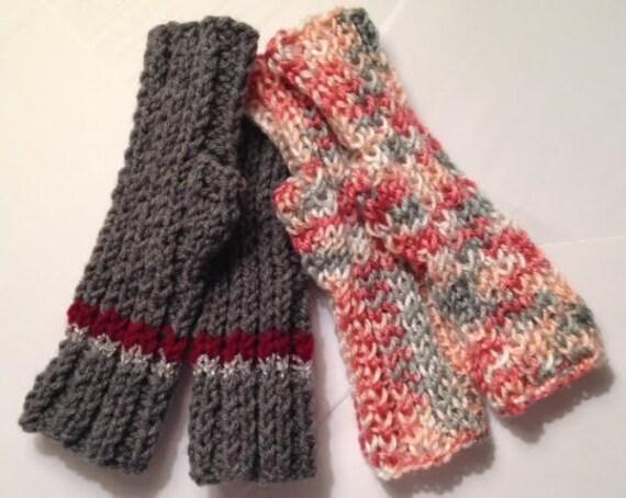 Easy Ribbed Fingerless Gloves PATTERN