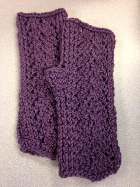 Vine Lace Fingerless Gloves Knitting Pattern   Etsy