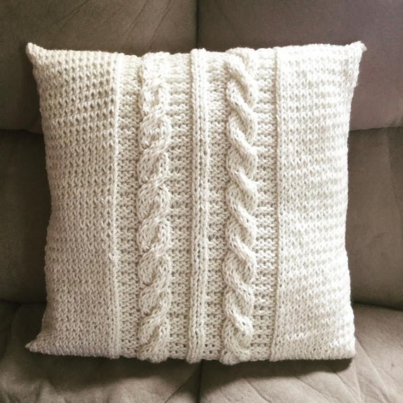 Cabled 16x16in Pillow Case/Cover PATTERN
