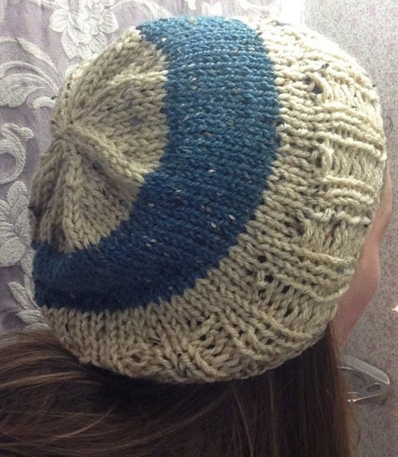 Easy Ribbed Slouchy Beanie Hat Knitting PATTERN