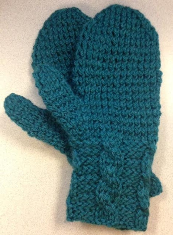 Cabled Cuff Mittens Knitting PATTERN