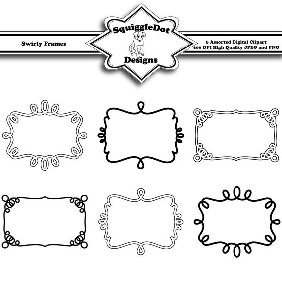 Printable Frame Clip Art For Digital Scrapbooking Etsy