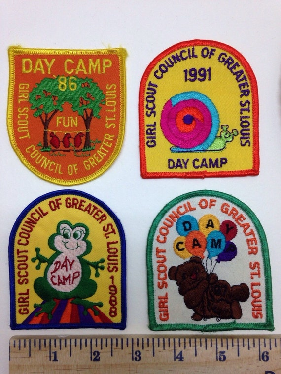 4 Girl Scout Patches