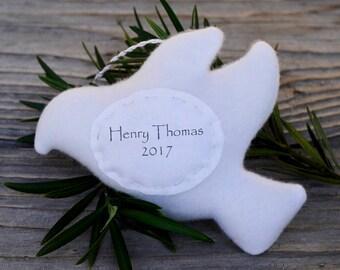 Personalized Dove Christmas Ornament, Child Christmas Personalized Dove Ornament, Family Personalized Christmas Ornament, Custom Ornament