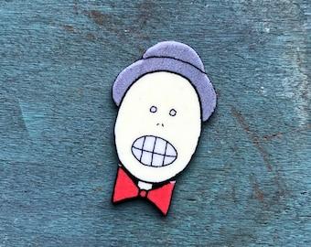 Inspired Animaniacs Mr. Skullhead Skull Head Lapel Pin Pinback Button