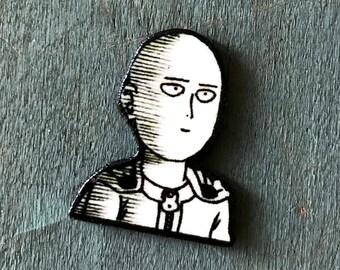 One Punch Man Ok Wanpanman Lapel Pin Pinback Button Comic Graphic Novel Manga