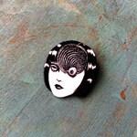 Junji Ito Uzumaki Japanese Horror Manga Graphic Novel Anime Comic Book Character Pulp Pin Button Pinback