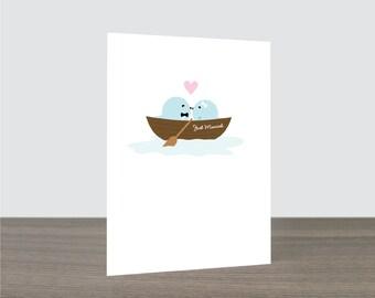 Rhinestones PaperCut Groom Bride Pearls 1 Wedding Card Elegant Classic Flourish Love Birds