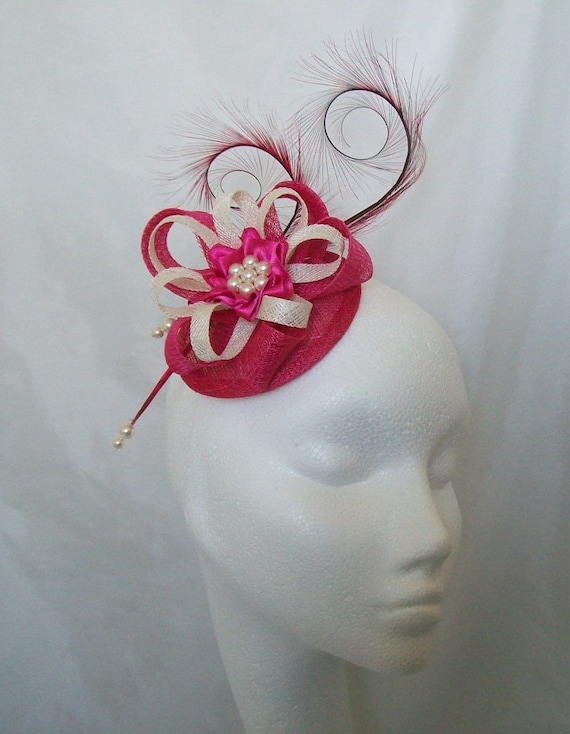 Wedding Buttonhole Corsage Pin On Burgundy Deep Red Ivory Pearls Ribbon Loops