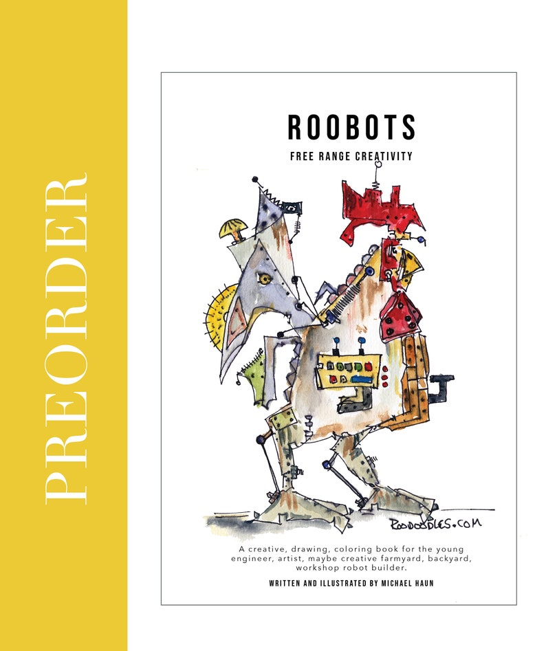 RooBots Roodoodles Free Range Creativity coloring book  image 0