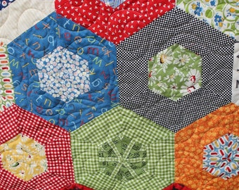 Custom Whole Quilt Baby Shower Baby Blanket in Hunter Orange Buck Whole Cloth Quilt by Sew4MyLoves Neutral New Baby