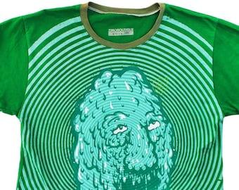 Melting Face Medium Unisex Ringer Shirt 1/1 AC014