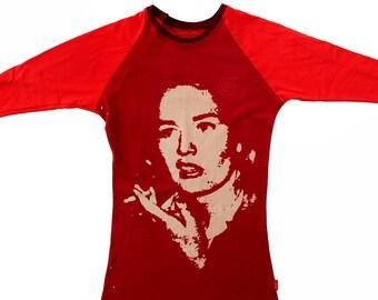 Franny Ladies Cardinal/Red Baseball Shirts