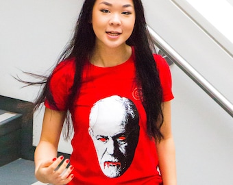 Avoid Freud Ladies Red T-Shirts