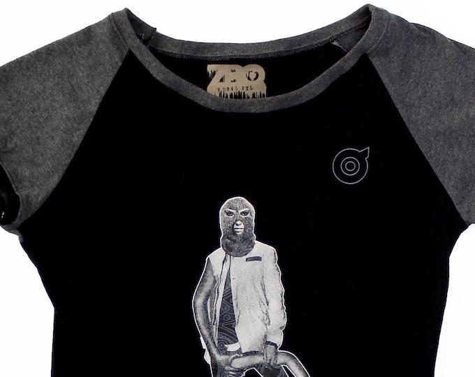 Armed XL Ladies Black/Heather Charcoal Raglan Shirt 1/1 BD045
