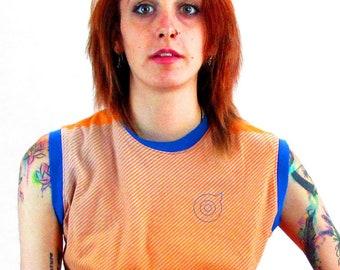 Trans Ladies Small Orange Tank Top AC018