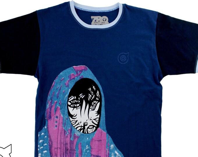 Blue Robe Medium Unisex Ringer Shirt 1/1 BD082