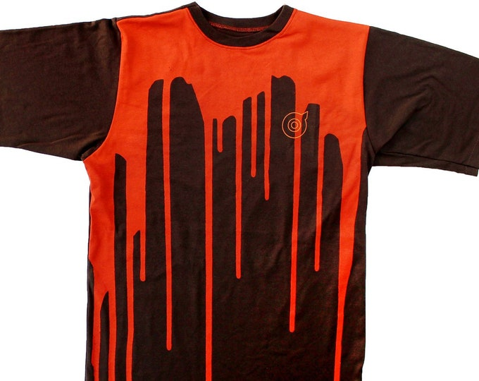Dripp Unisex Orange/Brown T-Shirts