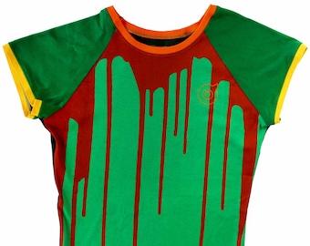 Dripp Ladies Green Raglan Shirts