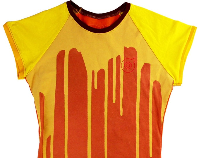Dripp Ladies Orange/Yellow Raglan Shirts