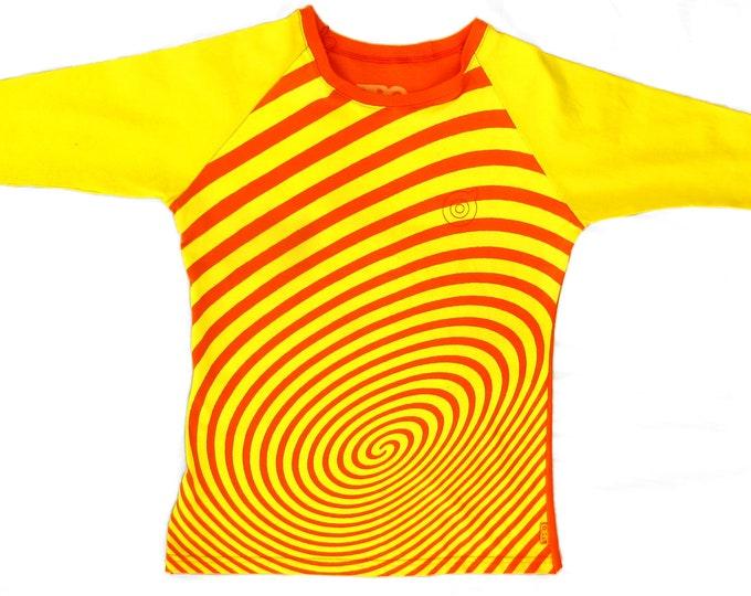 Spiral Stairs Ladies Large Yellow/Orange Baseball Shirt BH010
