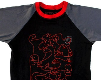 Oddfellows Black/Charcoal Baseball Shirts