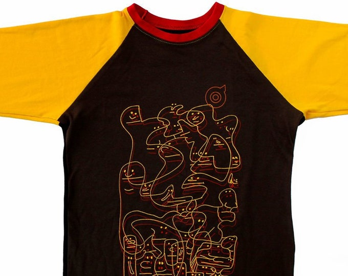 Oddfellows Brown/Gold Baseball Shirts