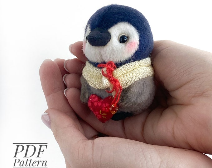 Penguin PDF sewing pattern + Video tutorial