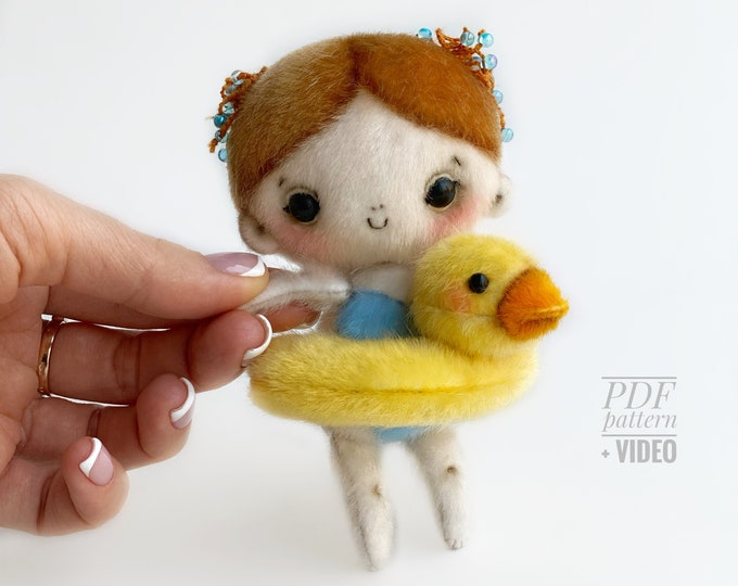 Amy Doll PDF sewing pattern + Video tutorial