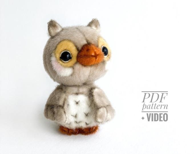 Owl PDF sewing pattern + Video tutorial