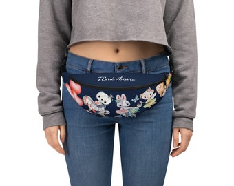 Fanny Pack with Animals blue