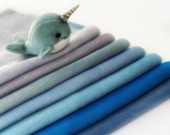 Ninelle Narwhal Colors fabric for toys